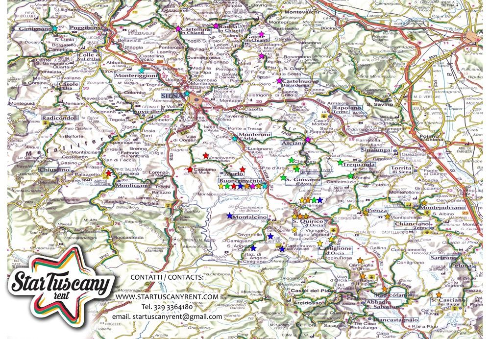 Itinerari suggeriti STAR TUSCANY RENT